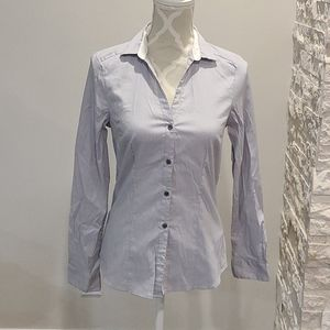 H&M pinstriped button up collared shirt